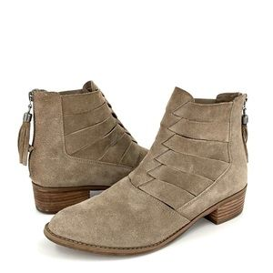 Volatile Distressed Cut Out Woven Bootie Size 8.5